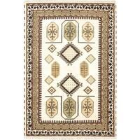 ecarpetgallery Hand-Kotted Royal Kazak Blue  Wool Rug (6'7 x 9'10)