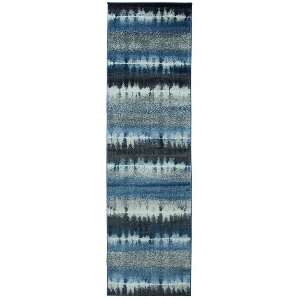 Sorrento Navy Print Runner Rug (2'3 x 7'7)