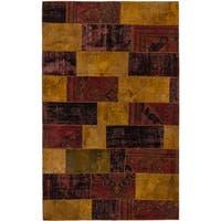 ecarpetgallery Hand-Kotted Andelz Brown, Red  Wool Rug (5'3 x 8'4)