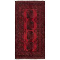 ecarpetgallery Hand-Kotted Khal Mohammadi Red  Wool Rug (3'3 x 6'3)