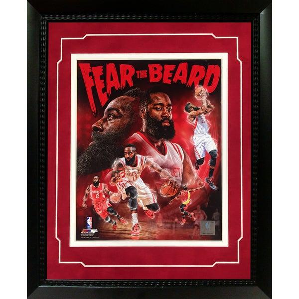 Houston Rockets James Harden 'Fear the Beard' 11-inch x 14-inch Deluxe Frame-