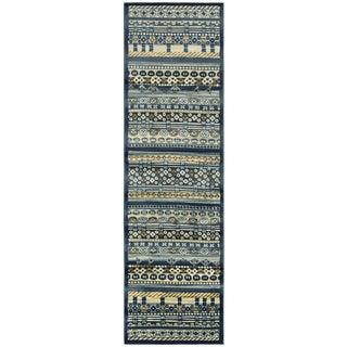 Sorrento Stripes/ Pattern Runner Area Rug (2'3 x 7'7)