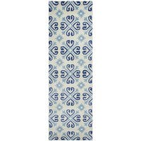 Hand-tufted Opus Off-white Wool Print Runner Rug (2'6 x 8')