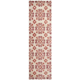Hand-tufted Opus Khaki Wool Print Runner Area Rug (2'6 x 8')