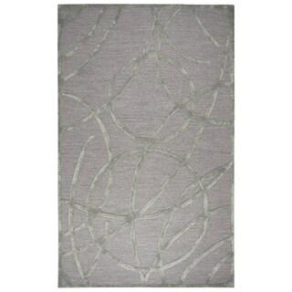 "Hand-tufted Monroe Tan Wool and Viscose Geometric/ Trellis Runner Area Rug (2'6 x 8') - 2'6"" x 8'"