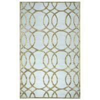Hand-tufted Monroe Ivory/ Cream Wool and Viscose Geometric/ Trellis Runner Rug (2'6 x 8')