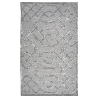 "Hand-tufted Madison Grey Wool and Viscose Geometric/ Trellis Runner Area Rug (2'6 x 8') - 2'6"" x 8'"