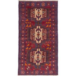 ecarpetgallery Hand-Kotted Kazak Red Wool Rug (3'3 x 6'0)