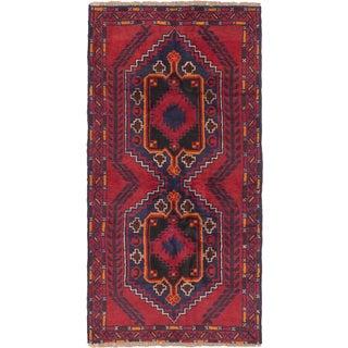 ecarpetgallery Hand-Kotted Kazak Blue, Red  Wool Rug (3'6 x 6'5)