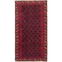 ecarpetgallery Hand-Kotted Herati Brown, Red  Wool Rug (3'4 x 6'4)