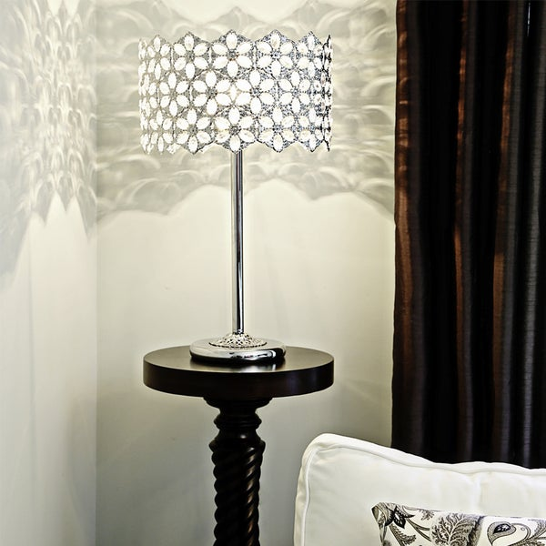 Poetic Wanderlust by Tracy Porter 23-inch High Fairlea Jeweled Chrome Table Lamp