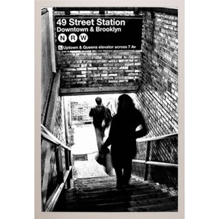 'Subway Shadow' Framed Poster