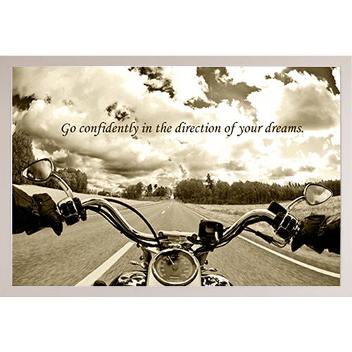 White Plastic Framed Ride Free Poster - Free Shipping Today ...