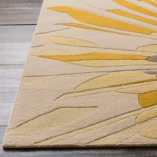 Hand Tufted Floral Wool Rug 9 6 X 13 6 Free Shipping