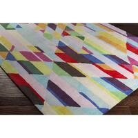 Oliver & James Endara Hand-tufted Wool Multicolor Area Rug - 8' x 10'