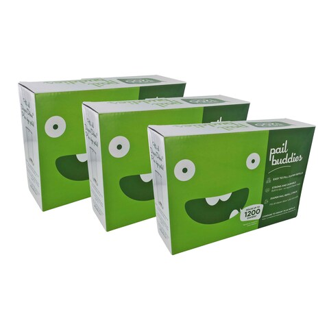 Pail Buddies Diaper Pail Refills Compatible with all Diaper Dekor Plus Diaper Pails (Pack of 6)