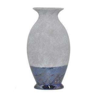 Three Hands Navy And Grey Ceramic 14.5-Inch Vase