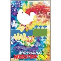 Silver Metal Framed Woodstock Tie-dye Poster