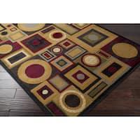 Clay Alder Home Percha Contemporary Shapes Tan Area Rug - 6'7 x 9'6