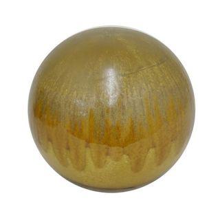 Benzara Drip Brown Ceramic 8.75-inch Orb