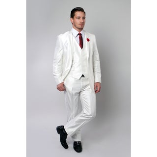 Tazio Men's White 3-piece Suit
