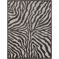 Shop Zebra Skin Black Nylon Area Rug 8 X 11 On Sale