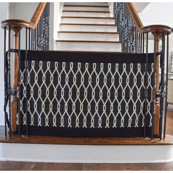 Shop The Stair Barrier Onyx Banister To Banister Indoor