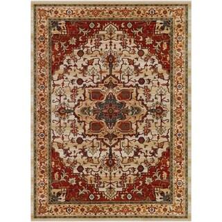 Machine Woven Lirnard Wool Rug-(7'10 x 10'10)