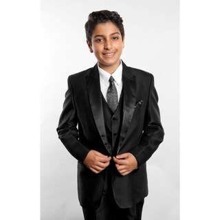 Tazio Boys' Black 5-piece Suit