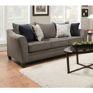 Albany Traditional Grey Sofa With 4 Pillows