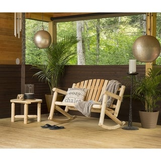 Bestar White Cedar Settee Rocker and Coffee Table Set