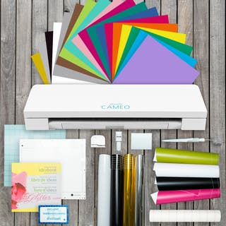 Silhouette Cameo 3 Die Cutting Machine Vinyl Lovers Starter Kit & More Bundle|https://ak1.ostkcdn.com/images/products/14691049/P21223664.jpg?impolicy=medium