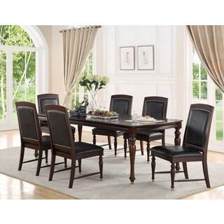 Abbyson Delano Luxury Leather 7-piece Dining Set