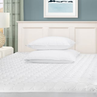 Superior Hypoallergenic Microfiber Deep Pocket Quilted Mattress Pad - White