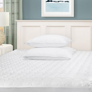 Link to Superior Hypoallergenic Microfiber Deep Pocket Quilted Mattress Pad - White Similar Items in Mattress Pads & Toppers