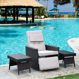 Patio Brown Wicker Reclining Chair & Recliners Patio Furniture - Shop The Best Outdoor Seating u0026 Dining ... islam-shia.org