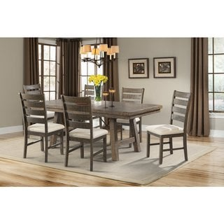 Picket House Furnishings Dex 7PC Dining Set- Table, 6 Ladder Dining Chairs