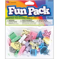 Fun Pack Acrylic Shaped Beads 32/Pkg-Assorted Christian