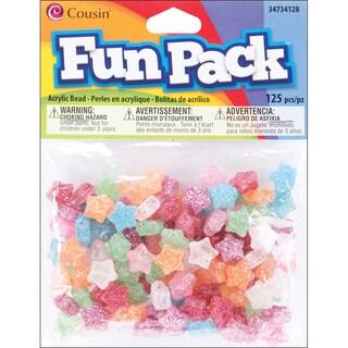 Fun Pack Acrylic Star Beads 125/Pkg-Assorted Glitter