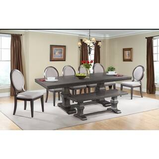 Picket House Furnishings Steele 8PC Dining Set- Table, 6 Wooden Dining Chairs & Dining Bench https://ak1.ostkcdn.com/images/products/14691148/P21223891.jpg?impolicy=medium