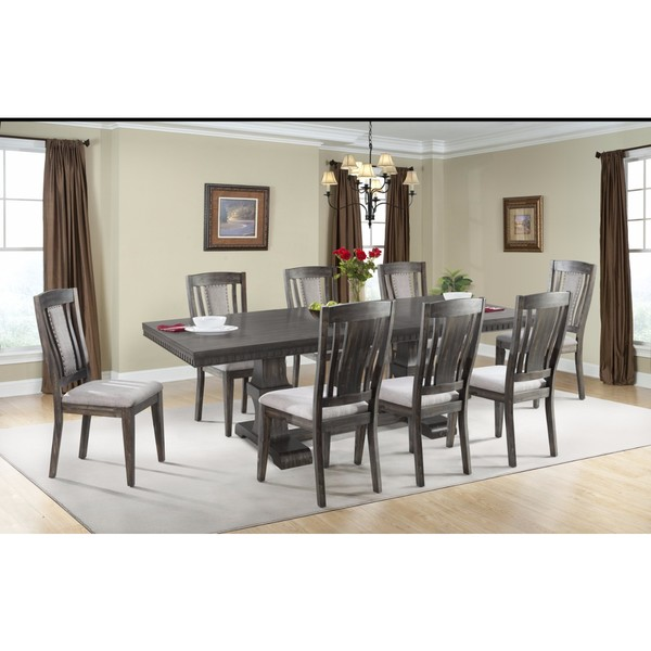 Picket House Furnishings Steele 9PC Dining Set  Table U0026amp; 8 Wooden Chairs