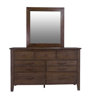 Driftwood Seven Drawer Dresser with Optional Landscape Mirror by Panama Jack