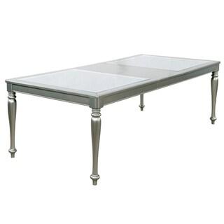 Grey Dining Room Furniture. Furniture Of America Glendel Glam Embossed  Glass Top Silver Grey Dining