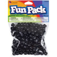 Fun Pack Acrylic Pony Beads 250/Pkg-Black