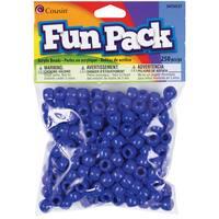 Fun Pack Acrylic Pony Beads 250/Pkg-Blue