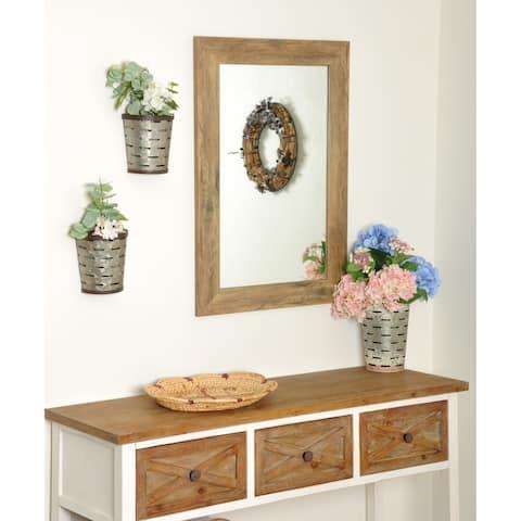 Multi Size BrandtWorks Blonde Barnwood Wall Mirror - Brown