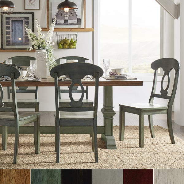 Sage Green Dining Room: Shop Eleanor Sage Green Farmhouse Trestle Base Napoleon
