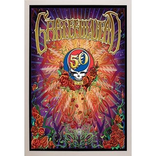 Grateful Dead 50th Anniversary White Simply Poly Frame 24-inch x 36-inch Poster