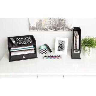 Kate and Laurel Luxe 3 Piece Acrylic Desk Organizer Set