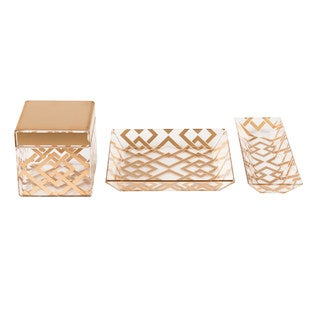 Kate and Laurel Luxe 3 Piece Acrylic Desk Organizer Set